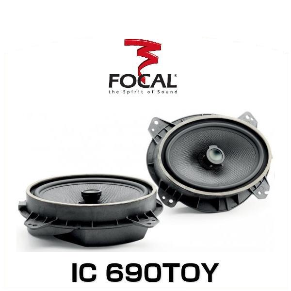 FOCAL フォーカル IC 690TOY 16.5×23cm2ウェイコアキシャルスピーカー 車種別専用キット