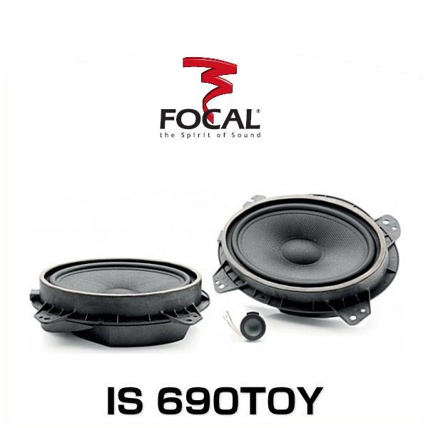 FOCAL フォーカル IS 690TOY 16.5×23cm2ウェイセパレートスピーカー 車種別専用キット