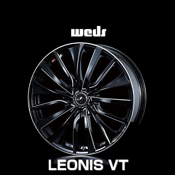 weds ウェッズ レオニス VT 36377 19インチ 19×8.0J インセット:43 穴数:5 PCD:114.3 ハブ径:73 カラー:PBK/SC【ホイール4本価格】
