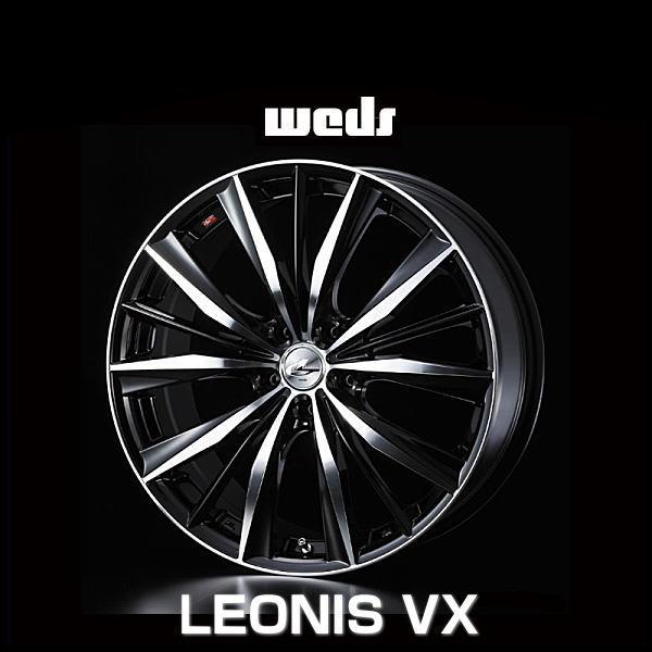 weds ウェッズ レオニス VX 33295 20インチ 20×8.5J インセット:45 穴数:5 PCD:114.3 ハブ径:73 カラー:BKMC【ホイール4本価格】