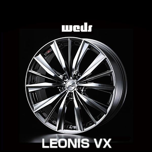 weds ウェッズ レオニス VX 33272 18インチ 18×7.0J インセット:47 穴数:5 PCD:100 ハブ径:73 カラー:BMCMC【ホイール4本価格】