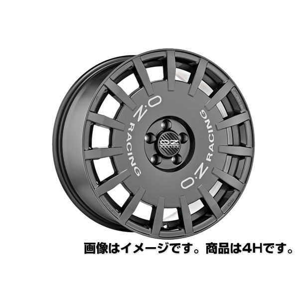 OZ Rally Racing ラリーレーシング 17インチ 17×7J インセット:37 穴数:4 PCD:100 ハブ径:68 ダークグラファイト【ホイール4本価格】