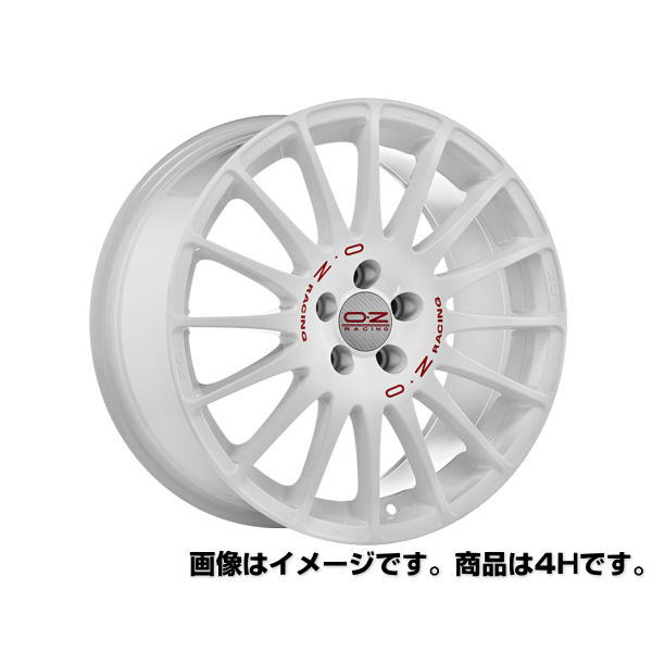 OZ Superturismo WRC スーパーツーリズモWRC 17インチ 17×7 インセット:44 穴数:4 PCD:100 ハブ径:68 ホワイト【ホイール4本価格】