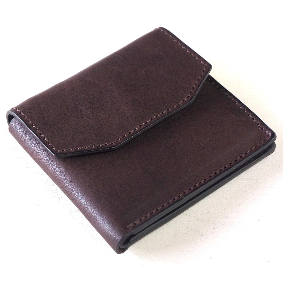 ANNAK(アナック) 栃木レザー コンパクト 二つ折り ギャルソンウォレット オールレザー ダークブラウン [AK16TA-B0054-DBR] 2つ折り財布 二つ折り財布 小さい財布 ミニ財布 小銭が出しやすい ショートウォレット ハーフウォレット シンプル 焦げ茶 レディース メンズ 日本製