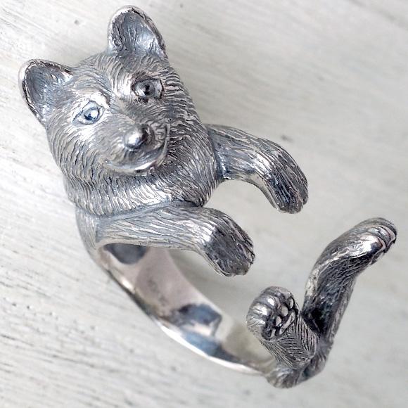 銀工房AramaRoots(アラマルーツ)犬リング 柴犬 シルバー メンズ レディース [AR46] アクセサリー作家・加藤心姿さんの手作りアクセサリー・ハンドメイドジュエリー 指輪 大人かわいい 柴 犬 動物 アニマル dog ドッグモチーフ 日本製 国産