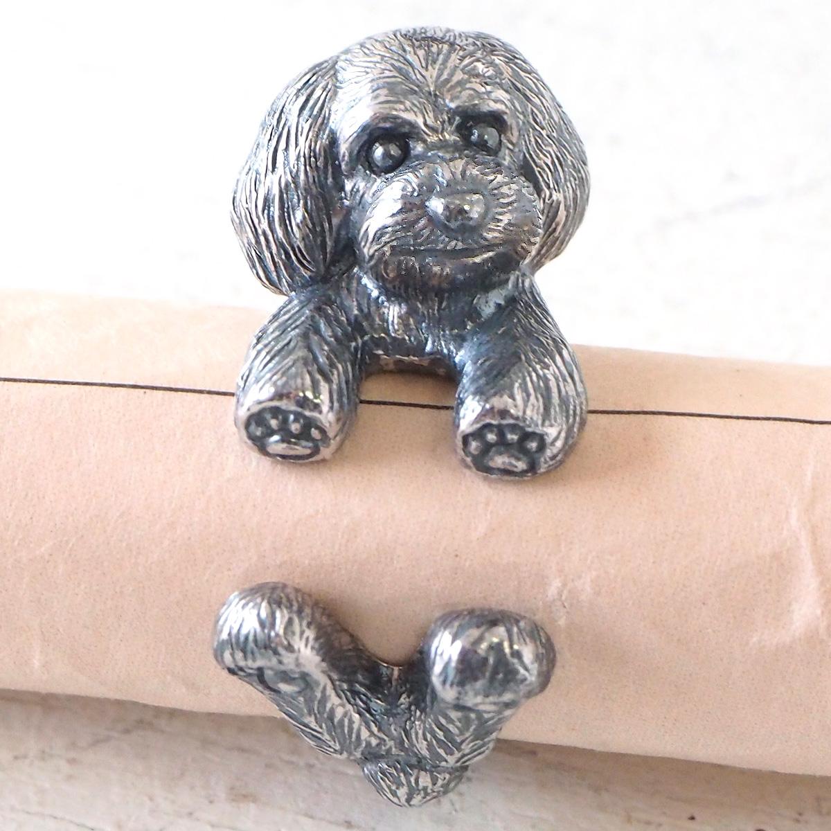 銀工房AramaRoots(アラマルーツ)犬リング トイプードル テディベアカット シルバー [AR71] アクセサリー作家・加藤心姿さんの手作りアクセサリー ハンドメイドジュエリー 指輪 犬 dog イヌ かわいい リング 動物 アニマル シルバー925 silver925 日本製 国産
