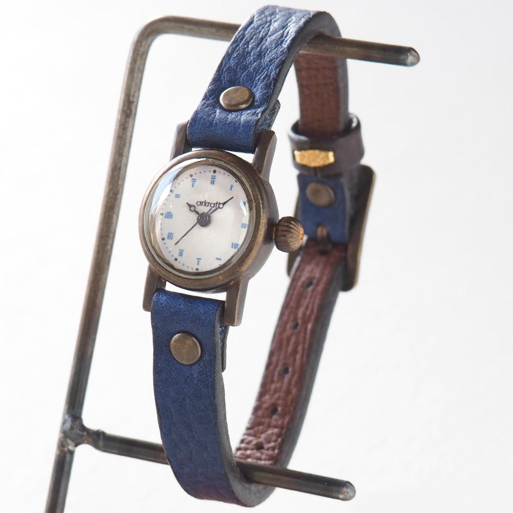 "ARKRAFT(アークラフト)手作り腕時計 ""Elmo mini"" エルモ・ミニ [AR-C-008] 時計作家・新木秀和 ハンドメイドウォッチ ハンドメイド腕時計 手作り時計 メンズ・レディース 本革ベルト 真鍮 クオーツ アナログ 日本製 国産"