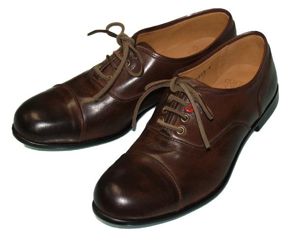 IMPROVE MYSELF(インプルーブ マイセルフ) ストレートチップ ホースレザーシューズ ダークブラウン メンズ [IM-1008-DBR] 東京・シブヤ製靴さんのファクトリーブランド 短靴 馬革 本革 本皮 スムースレザー 日本製 国産
