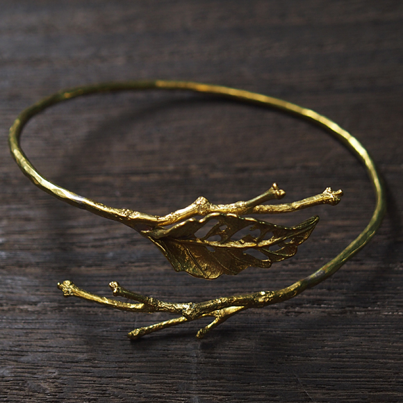 Lano(ラノ) リーフバングル 真鍮 [LN-3015] アクセサリー作家・平野朋晃さんの手作りアクセサリー・ハンドメイドジュエリー アンティーク調 中世ヨーロッパ 神戸 日本製 国産