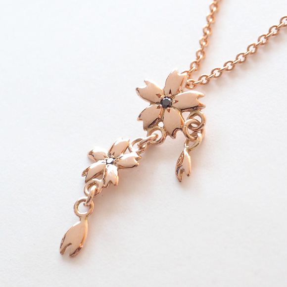Snk Japanese Pattern Accessories Writer Miura Sand Woven Cherry Necklace 10 Pink Cherry Blossom Two Types Black Diamond S Ts 10pb