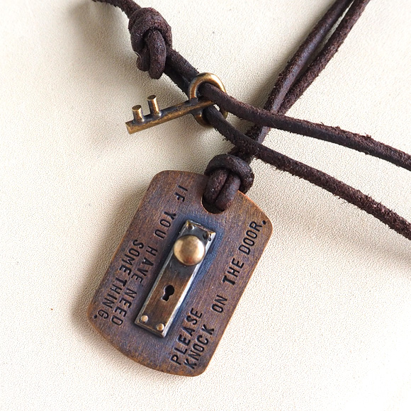 Craftcafe rakuten global market small right parking lights door small right parking lights door tag necklace copper brass strap sr nl 05 accessory writer iso hiroshis handmade miniature accessories and handmade mozeypictures Image collections