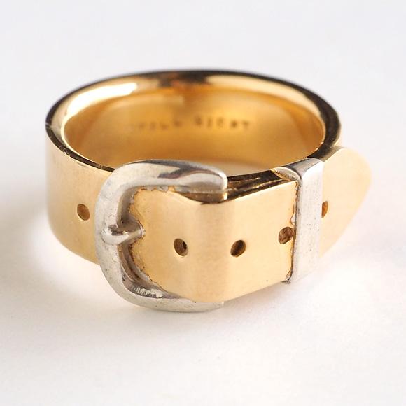 small right(スモールライト)ベルトリング Lサイズ cute ゴールド 18Kメッキ 7.3mm幅 鏡面仕上げ [SR-RG-05] アクセサリ 磯俊宏 ミニチュアアクセサリー・ハンドメイドジュエリー 指輪 ペアリング 18金コーティング 個性的 メンズ レディース リアル 日本製 国産