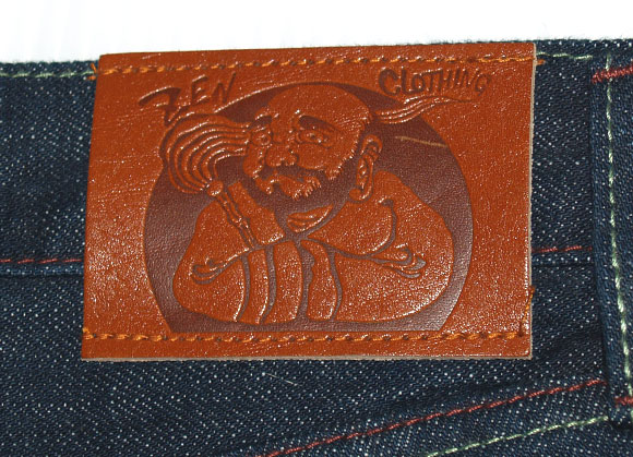 禅(ZEN)ロゴジーンズ 京龍 [KD001-28] 伝統工芸技術を生かした京都の和柄デニムブランド メンズ 和風 デニムパンツ ジーパン 京でん 日本製 国産