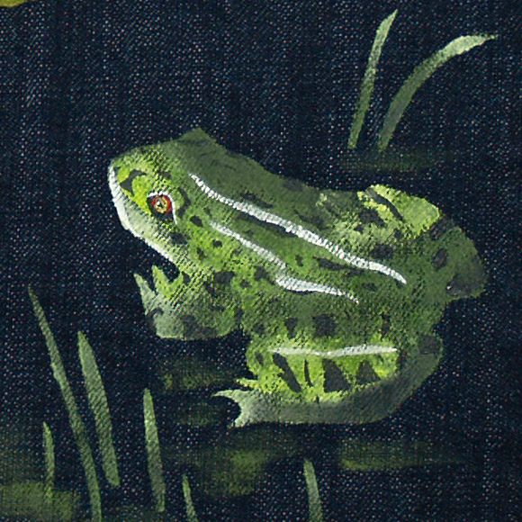 禅 ZEN京友禅手描きジーンズ闘蛙KD001 34伝統工芸技術を生かした京都の和柄デニムブランド メンズ 和風 デニHYW2E9ID