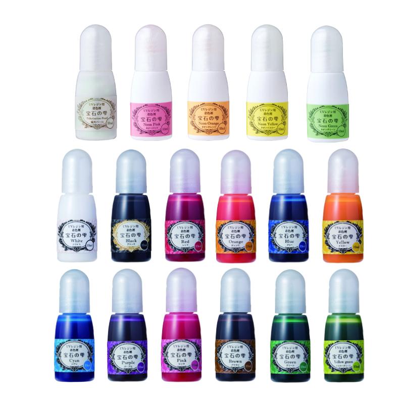レジン着色剤が17色セットでお買い得 実物 新色も登場 UVレジン用 着色剤 卸直営 宝石の雫 17色セット 着色料 パジコ PADICO レジン クラフト
