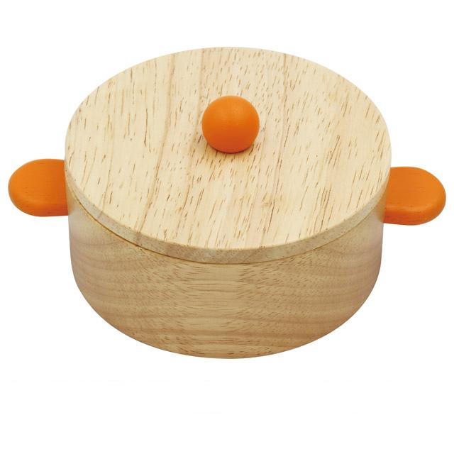 ままごと遊びにピッタリな大きいサイズの木のおなべ 木製おままごと 大人気 おなべ 大 驚きの価格が実現 ままごと エドインター 鍋 木のおもちゃ 食器 道具