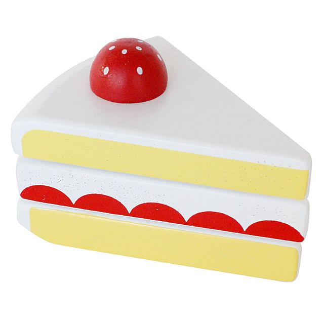 マジックテープ式でザクザク切れる マジックテープ式 ショートケーキ 切れる おままごと 木製 高品質新品 食材 売買 エドインター ままごと お菓子 木のおもちゃ 単品