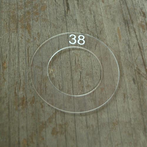 デザイン確認がしやすい透明テンプレート 包みボタン クルミボタン WEB限定 服飾 ハンドメイド 自作 型 アウトレットセール 特集 使いやすい アクセサリー くるみボタンアクリルテンプレート ツール 38mm用