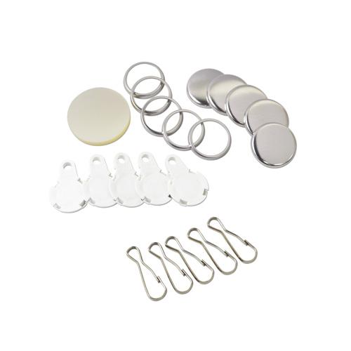 25mm フック型 缶バッジパーツセット( 白 ) 250個