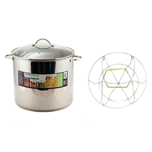 [SUPER PRICE] Presto ボイリングウォーターバスキャナー( 大型の深底鍋 ) 18.9L Stainless Steel Water Bath Canner