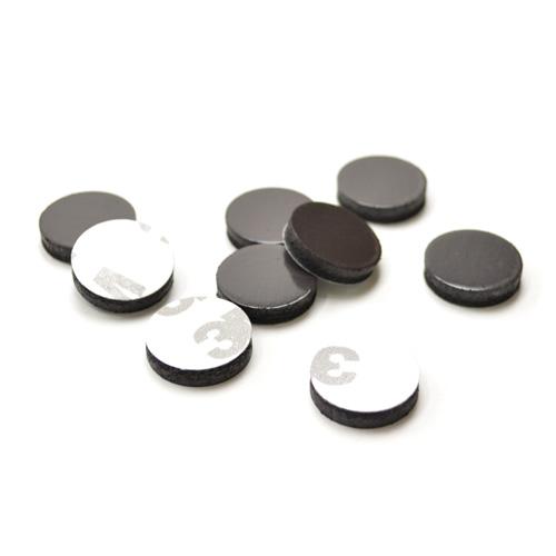 磁石/パーツ/ハンドメイド/自作/手作り/DIY/資材/金具 ラバーマグネット ( φ18x4mm ) 50個入
