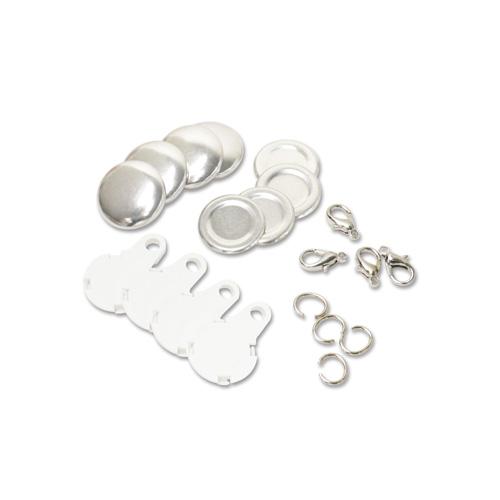 22mm チャーム型くるみボタンパーツセット( 白 ) 250個