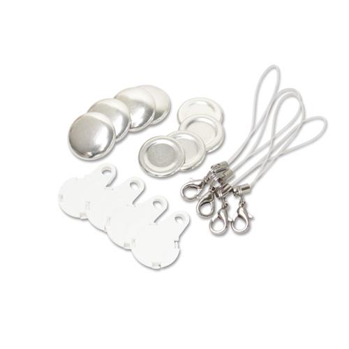 22mm 携帯ストラップ型くるみボタンパーツセット( 白 ) 250個