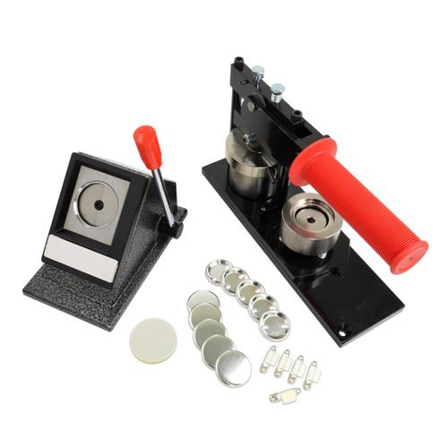 プロ仕様缶バッジ製作キット [ジュニア] 32mm (安全ピン型パーツセット)