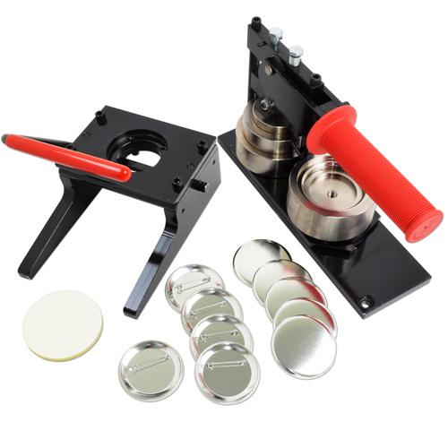 プロ仕様缶バッジ製作キット 57mm ( 写真用カッター / 標準ダブルフックパーツセット )