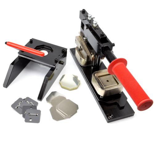 プロ仕様缶バッジ製作キット 40mm四角形タイプ( 標準ダブルフックピンパーツセット )