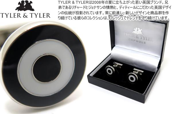 TYLER & TYLER タイラー&タイラー CAPSULE BOLD BULLSEYE BLACK/WHITE CUFFLINKS カプセルボールドブルズアイカフス(ブラック/ホワイト)【送料無料】【カフスボタン カフリンクス】