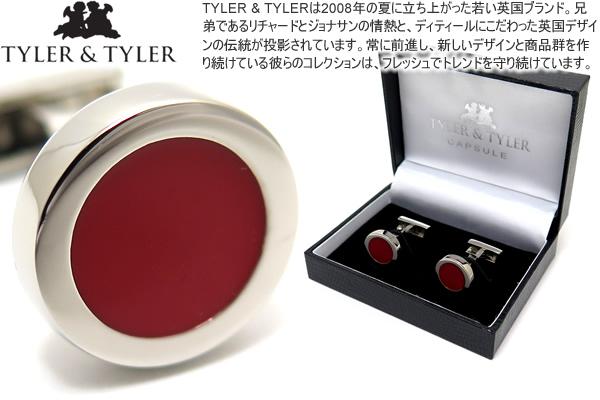 TYLER & TYLER タイラー&タイラー CAPSULE AUTHOR DICKENS RED CUFFLINKS カプセルオーサーカフス(ディケンズレッド)【送料無料】【カフスボタン カフリンクス】