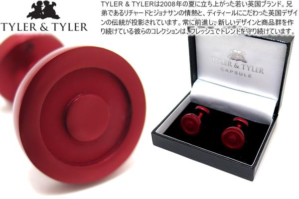 TYLER & TYLER タイラー&タイラー CAPSULE ICONS BOULTON RED CUFFLINKS カプセルアイコンズカフス(ボールトンレッド)【送料無料】【カフスボタン カフリンクス】