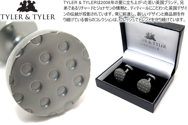TYLER & TYLER タイラー&タイラー CAPSULE ICONS WATT SILVER CUFFLINKS カプセルアイコンズカフス(ワットシルバー)【送料無料】【カフスボタン カフリンクス】