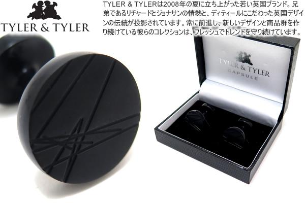TYLER & TYLER タイラー&タイラー CAPSULE ICONS MURDUCH BLACK CUFFLINKS カプセルアイコンズカフス(マードックブラック)【送料無料】【カフスボタン カフリンクス】