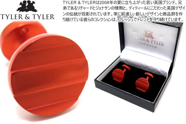 TYLER & TYLER タイラー&タイラー CAPSULE ICONS BASKERVILLE ORANGE CUFFLINKS カプセルアイコンズカフス(バスカヴィルオレンジ)【送料無料】【カフスボタン カフリンクス】