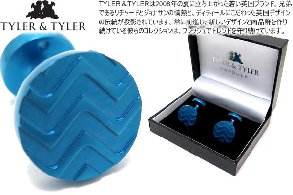 TYLER & TYLER タイラー&タイラー CAPSULE ICONS CHAMBERLAIN BLUE CUFFLINKS カプセルアイコンズカフス(チェンバレンブルー)【送料無料】【カフスボタン カフリンクス】