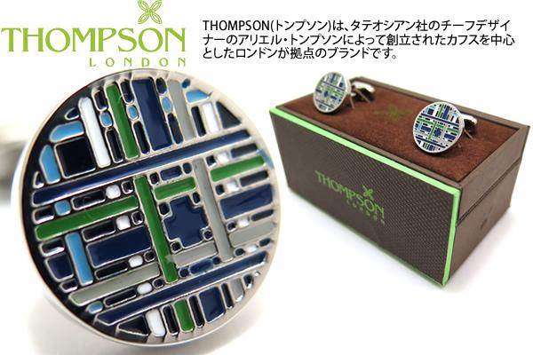 【期間限定ポイント10倍】THOMPSON トンプソン TH TARTAN BLUE CUFFLINKS タータンカフス(ブルー)【トンプソン正規取扱】【送料無料】【カフスボタン カフリンクス】【ブランド】