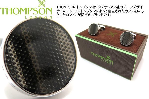 THOMPSON トンプソン TH TEXTURED WAVE GREY オーバーのアイテム取扱☆ CUFFLINKS カフリンクス トンプソン正規取扱 グレー 永遠の定番 テクスチャードウェーブカフス 送料無料 ブランド カフスボタン