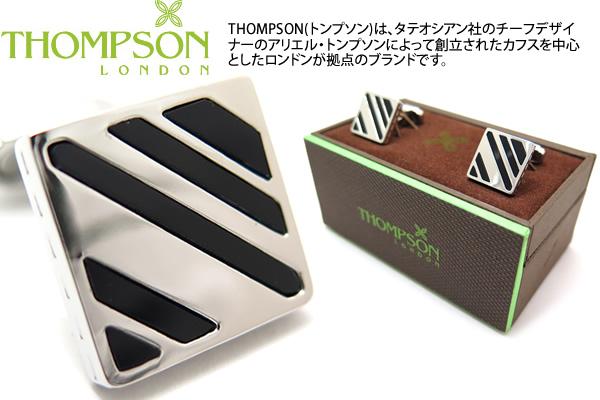 THOMPSON トンプソン TH SLASH ONYX AND METAL CUFFLINKS ブランド 送料無料 オニキス メタル カフスボタン 超目玉 セール トンプソン正規取扱 スラッシュカフス カフリンクス