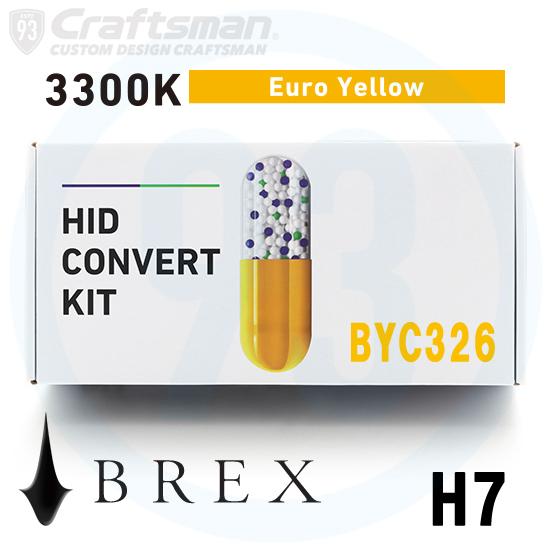 BREX HID H7 BYC326 3300K Euro Yellow CONVERT KIT