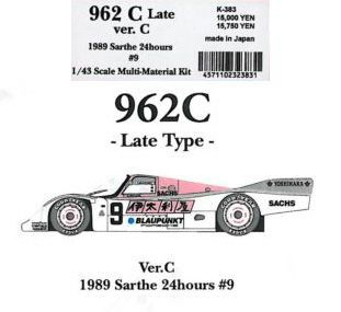 962C Late Ver.C 【1/43 K-383 Multi-Material kit】