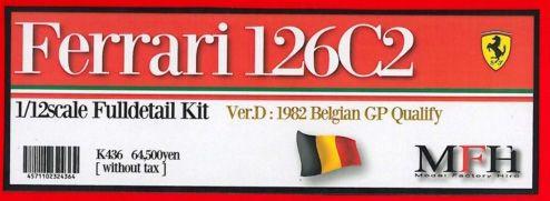 Ferrari 126 C2 Belgian GP #27 Gilles【1/12 K-436 Ver.D Full detail kit】