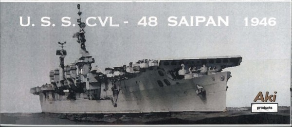 1/700 Resin Kit U.S.S.CVL-48 SAIPAN 1946【安芸製作所製】