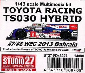 TOYOTA RACING TS030 HYBRID #7/#8 WEC 2013 Bahrain