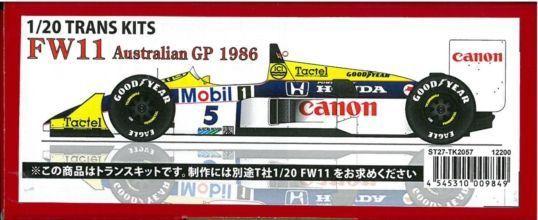 FW11 AustralianGP 1986 1/20 TRANS KITS (T社1/20 対応)