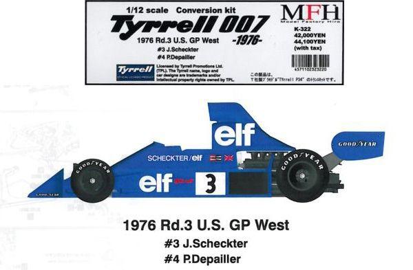 Tyrrell 007 -1976-【1/12 K-322 Conversion kit】