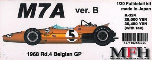 M7A Ver.B 1968 Rd.4 Belgian GP【1/20 K-324 Full detail kit】
