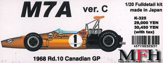 M7A Ver.C 1968 Rd.10 Canadian GP【1/20 K-325 Full detail kit】