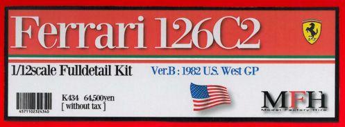 Ferrari 126 C2 U.S. West GP #27 Gilles【1/12 K-434 Ver.B Full detail kit】